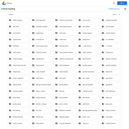 critical reading - Google Drive