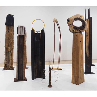 Sculptures by Japanese-Brazilian artist Kenzi Shiokava (b. 1938)