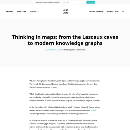 Thinking in maps: from the Lascaux caves to knowledge graphs