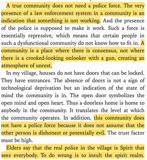 """Malidoma Somé: """"A true community does not need a police force"""""""