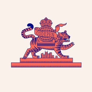 Tiger mascot for the upcoming @codepen world's fair. More at codepenworldsfair.com 🗼🎡