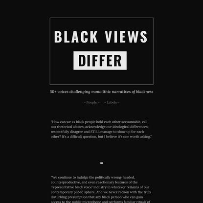 Black Views Differ