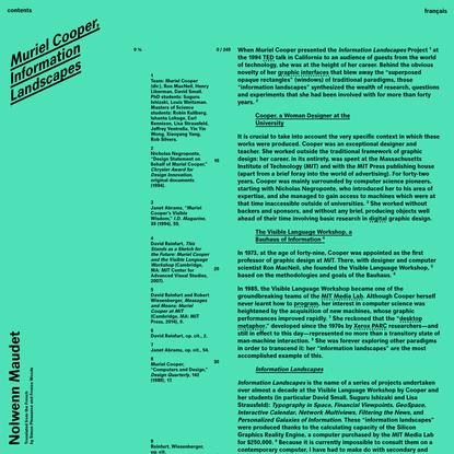 Muriel Cooper, Information Landscapes | Back Office