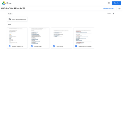 ANTI-RACISM RESOURCES - Google Drive