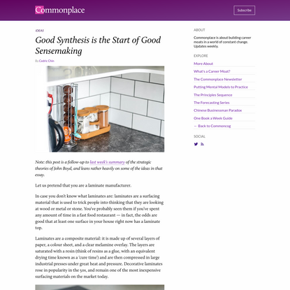 Good Synthesis is the Start of Good Sensemaking
