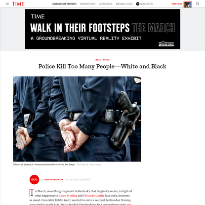 Police Kill Too Many People-White and Black