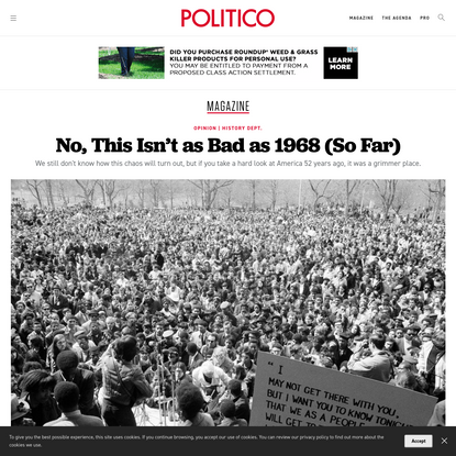 Opinion   No, This Isn't as Bad as 1968 (So Far)
