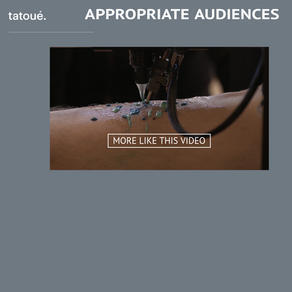 "[Projet] ""Le tatoué"" impression 3D + tatouage"