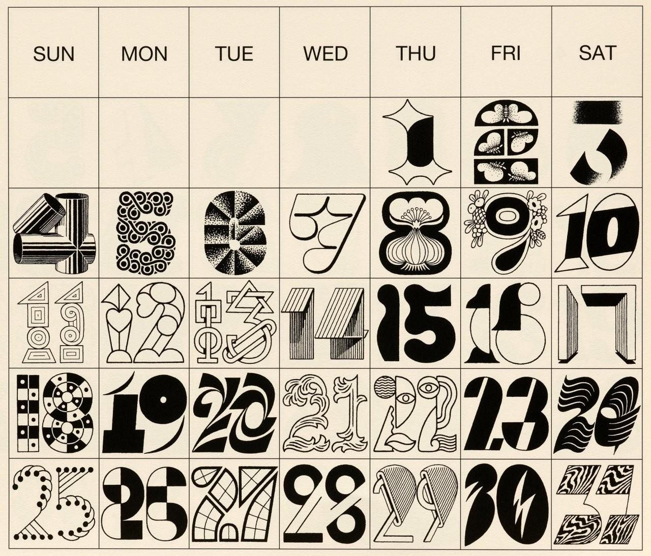 Tezzo Suzuki, calendar.