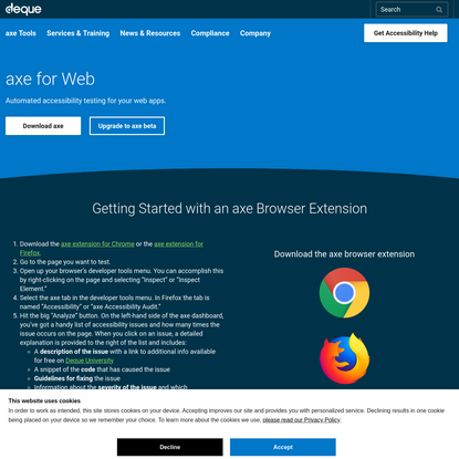 Chrome & Firefox Browser Extensions for Accessibility Testing   axe