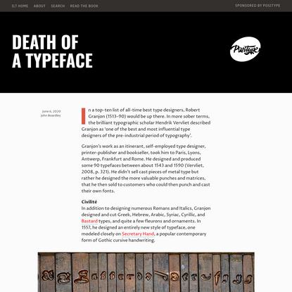 Death of a Typeface - I Love Typography