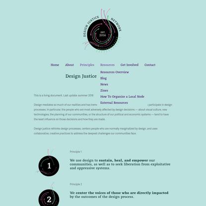 Principles of Design Justice