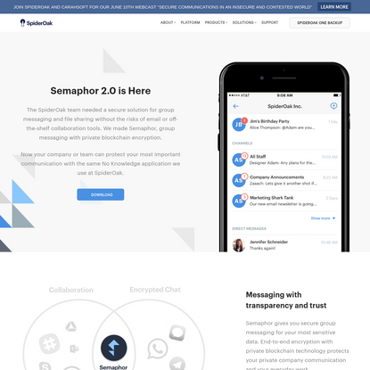 Semaphor Messaging for Teams | SpiderOak