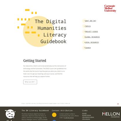 The Digital Humanities Literacy Guidebook