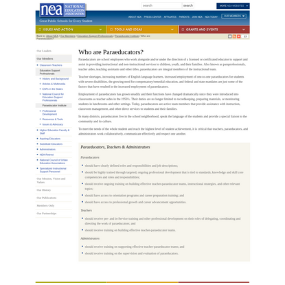 Who are Paraeducators?
