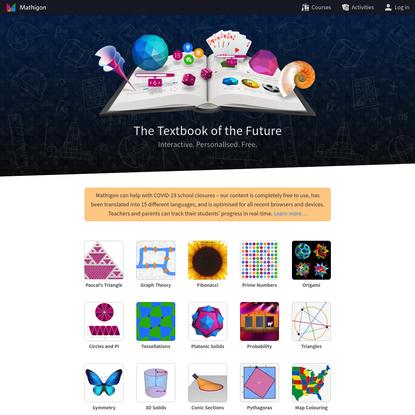 Mathigon - Textbook of the Future