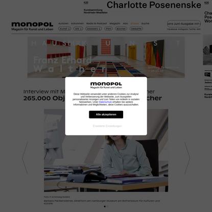 265.000 Objekte, 0 Provenienzforscher   Monopol