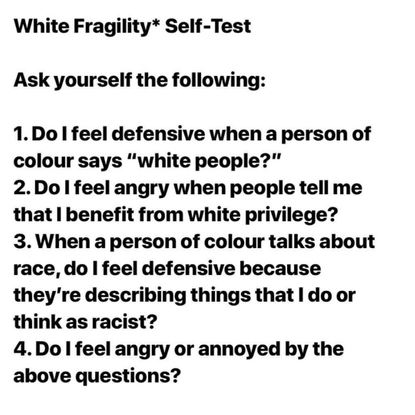 """Ally Henny on Instagram: """"White Fragility Self-Test Thank you @_joshrivers for making it into a nice graphic. I'm hoping to ..."""