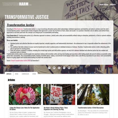 Transformative Justice | TransformHarm.org