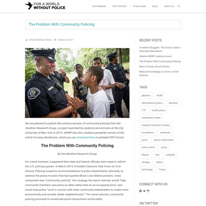 The Problem With Community Policing