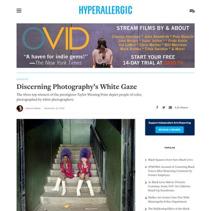 Discerning Photography's White Gaze