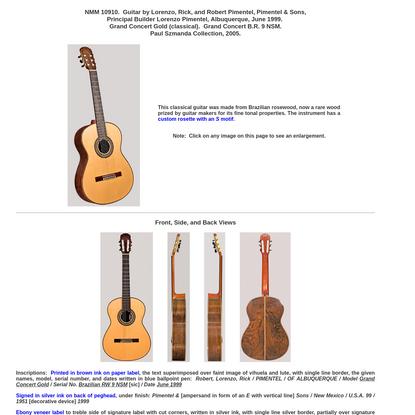 Guitar by Pimentel & Sons, Albuquerque, June 1999