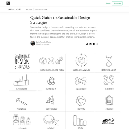Quick Guide to Sustainable Design Strategies