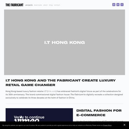 I.T Hong Kong - The Fabricant