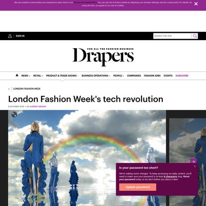 London Fashion Week's tech revolution