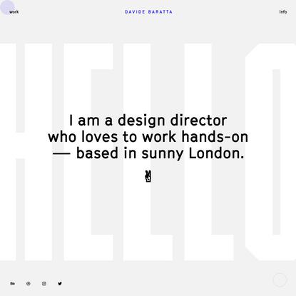 Davide Baratta - Visual Designer
