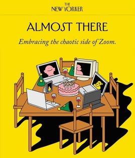 Zoom culture for @newyorkermag 🖥🎂💻🍷Thank AD Aviva Michaelov! words by Naomy Fry.