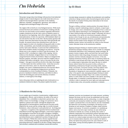 On Hybrids - Eli Block