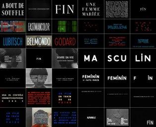 Typography Jean Luc Godard Titles