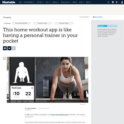 This home workout app is like having a personal trainer in your pocket