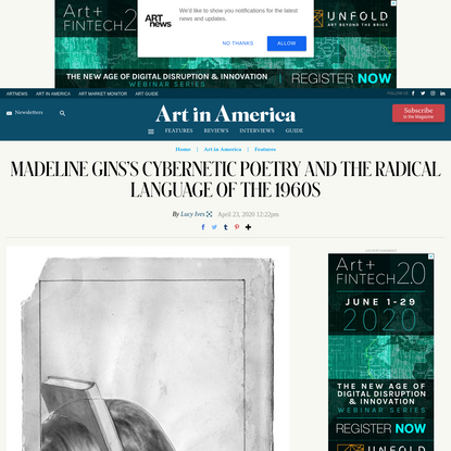 Excerpt: The Poetry and Prose of Madeline Gins, Edited by Lucy Ives – ARTnews.com