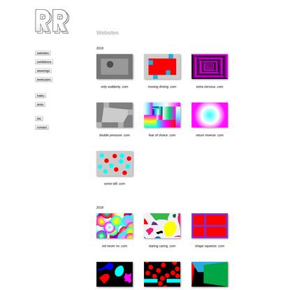 Rafaël Rozendaal - Websites