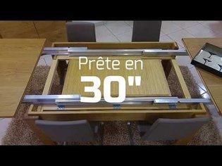 Table à manger avec allonges intégrées
