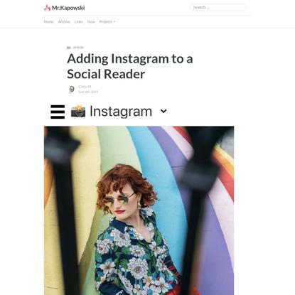 Adding Instagram to a Social Reader