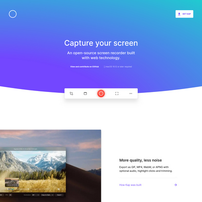 Kap - Capture your screen