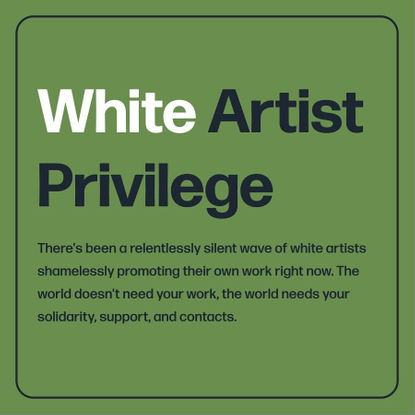 """emily may on Instagram: """"some thoughts and feelings about all the white artists sharing their irrelevant work right now. lay..."""