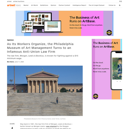 As Its Workers Organize, the Philadelphia Museum of Art Management Turns to an Infamous Anti-Union Law Firm   artnet News