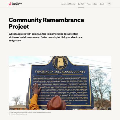 EJI's Community Remembrance Project