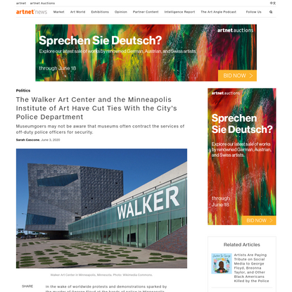 The Walker Art Center and the Minneapolis Institute of Art Have Cut Ties With the City's Police Department | artnet News
