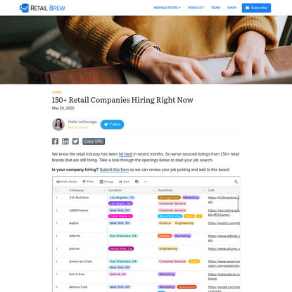150+ Retail Companies Hiring Right Now