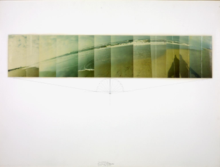 Jan Dibbets, Panorama Dutch Mountain 12 x 15° Sea II A, 1971