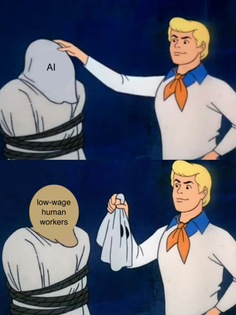 AI - low-wage human workers