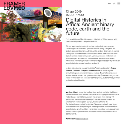 Digital Histories in Africa: Ancient binary code, earth and the future - Framer Framed