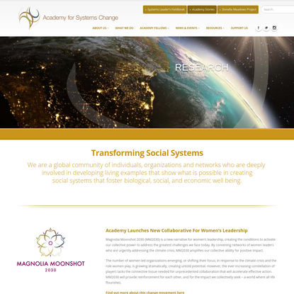Home - Academy for Systems Change