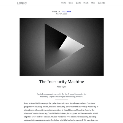 The Insecurity Machine