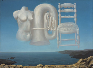 Rene Magritte, Le Temps Menaçant (Threatening Weather), 1929.